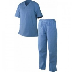 Costum medical de damă M3 albastru cod 0104050
