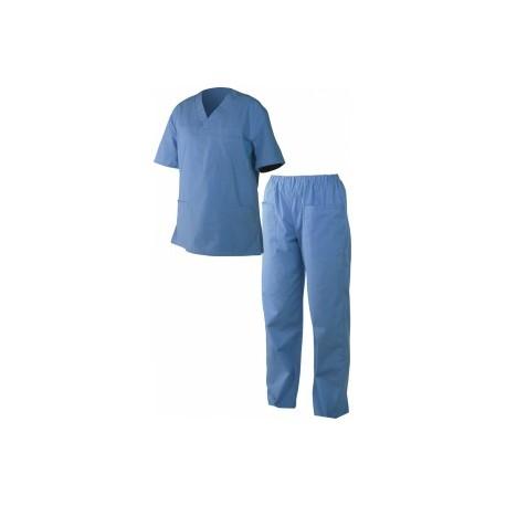 Costum medical de damă M3 albastru
